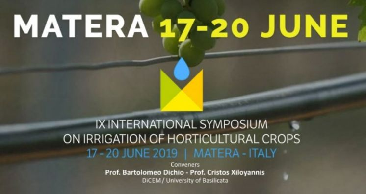 IX International Symposium on Irrigation of Horticultural Crops
